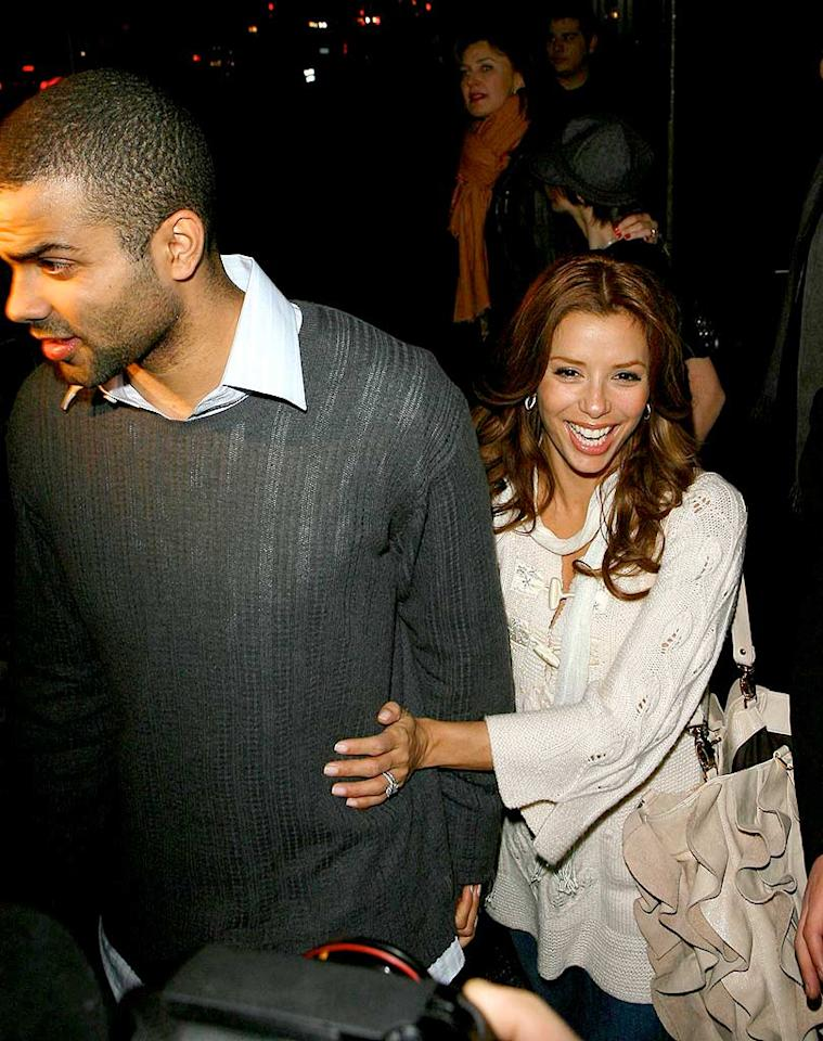 """Rumors swirled this week that NBA star Tony Parker had cheated on his wife Eva Longoria, but they looked like a happily-married couple after Thursday's Lakers-Spurs game. MWD/JM/AlphaX/<a href=""""http://www.x17online.com"""" target=""""new"""">X17 Online</a> - December 13, 2007"""