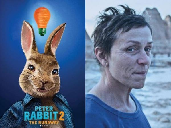 Posters of Peter Rabbit 2 and Nomadland (Image courtesy: Instagram)