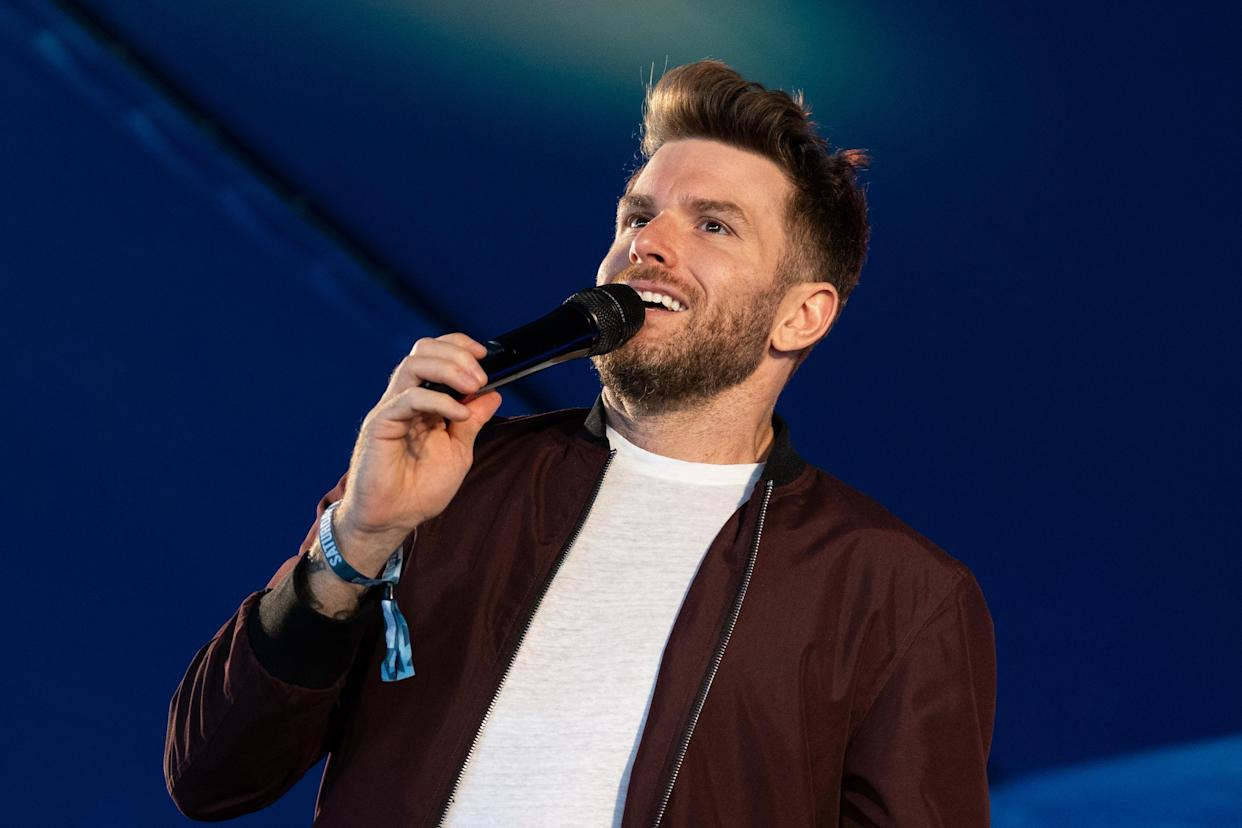 Joel Dommett is taking over from David Walliams as the NTAs host. (Photo by Lorne Thomson/Redferns)