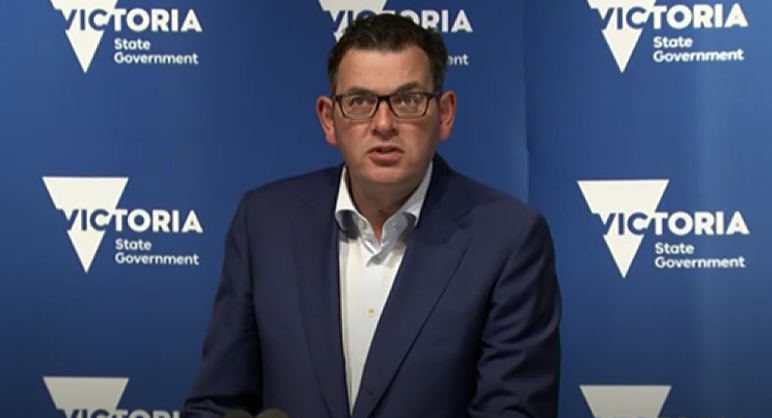 Daniel Andrews addressed the media on Tuesday morning. Source: ABC