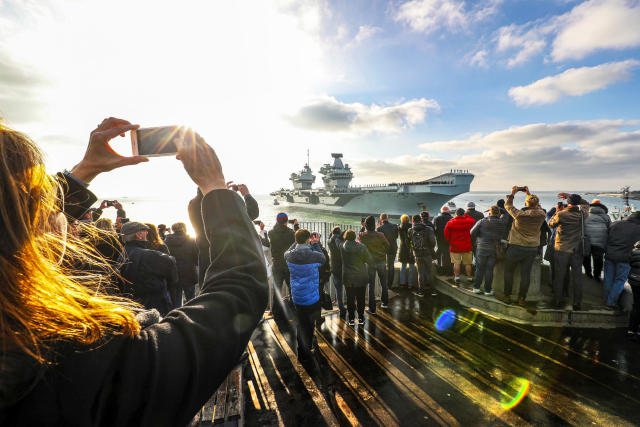 HMS Queen Elizabeth returning to Portsmouth, after a landmark deployment to the United States (Picture: UK MOD/Crown 2019)