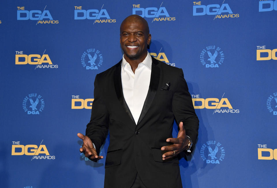 LOS ANGELES, CALIFORNIA - JANUARY 25: Terry Crews poses in the press room during the 72nd Annual Directors Guild Of America Awards at The Ritz Carlton on January 25, 2020 in Los Angeles, California. (Photo by Frazer Harrison/Getty Images)