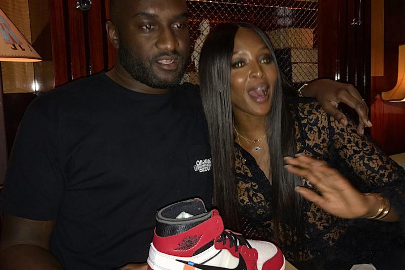 b3344809417f4 Virgil Abloh Gifts Naomi Campbell Custom 'Air Naomi' Off-White x Nike Shoes