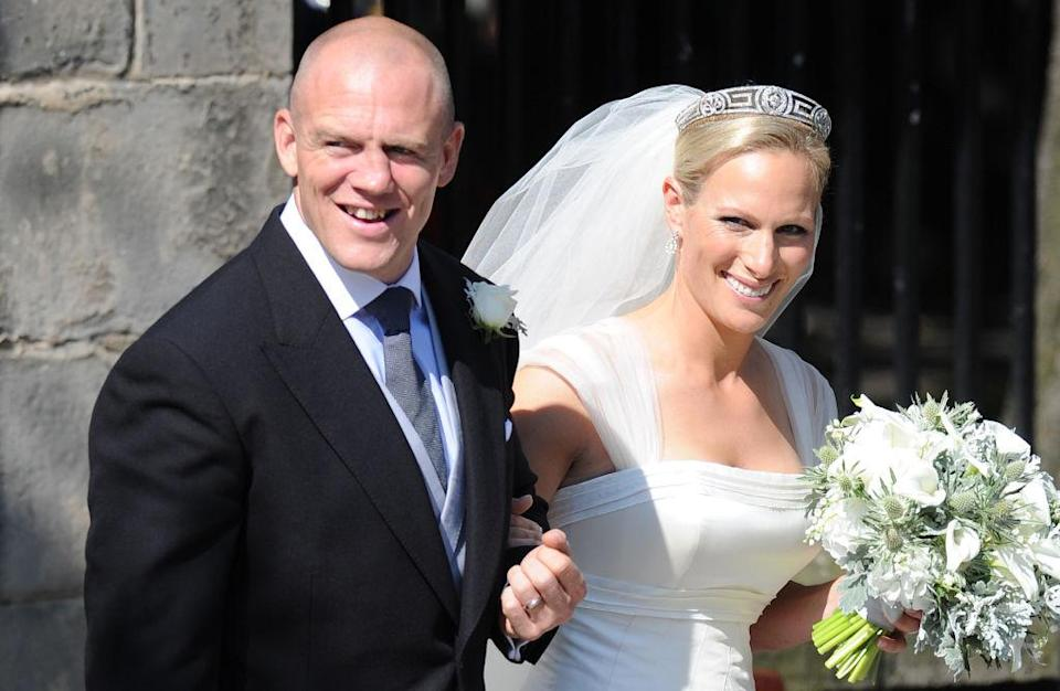 Zara and Mike Tindall's intimate wedding ceremony cost British taxpayers £400,000 in security fees [Photo: Getty]