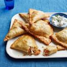 """<p>Who says you have to save turkey for the main course? While it also tastes great as leftovers, if you're not cooking a whole turkey this year, these turnovers are a great way to still incorporate the bird into your meal. </p><p><strong><em><a href=""""https://www.womansday.com/food-recipes/food-drinks/recipes/a52072/turkey-turnovers-with-apricots-and-almonds/"""" rel=""""nofollow noopener"""" target=""""_blank"""" data-ylk=""""slk:Get the recipe for Turkey Turnovers with Apricots and Almonds."""" class=""""link rapid-noclick-resp"""">Get the recipe for Turkey Turnovers with Apricots and Almonds.</a></em></strong></p>"""