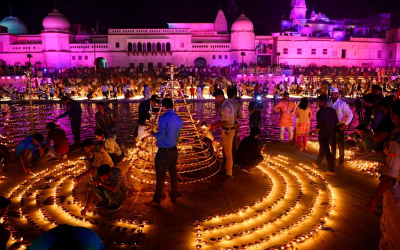 Ayodhya is considered to be the birth-place of the Hindu deity Ram - Sanjay Kanojia/AFP