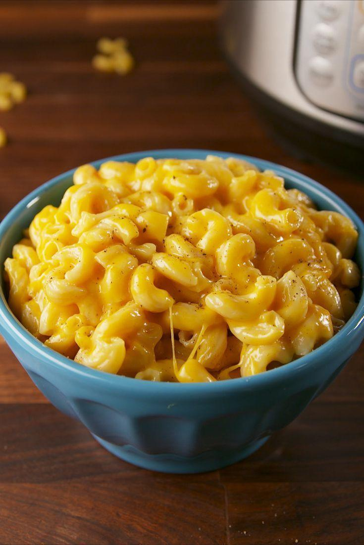 """<p>Homemade mac and cheese ready to eat in 10 minutes is only possible with your pressure cooker. </p><p><em><a href=""""https://www.delish.com/cooking/recipe-ideas/recipes/a57660/instant-pot-mac-cheese-recipe/"""" rel=""""nofollow noopener"""" target=""""_blank"""" data-ylk=""""slk:Get the recipe from Delish »"""" class=""""link rapid-noclick-resp"""">Get the recipe from Delish »</a></em></p>"""