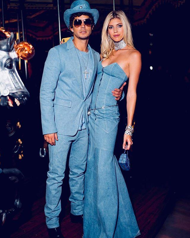 """<p>If you've ever worn head-to-toe denim, then you know that a denim ball gown–even a sleeveless one–will do the trick. And if not, you can borrow Justin's denim tuxedo jacket when you need it.</p><p><a href=""""https://www.instagram.com/p/BpbMfAFhtce/"""" rel=""""nofollow noopener"""" target=""""_blank"""" data-ylk=""""slk:See the original post on Instagram"""" class=""""link rapid-noclick-resp"""">See the original post on Instagram</a></p>"""