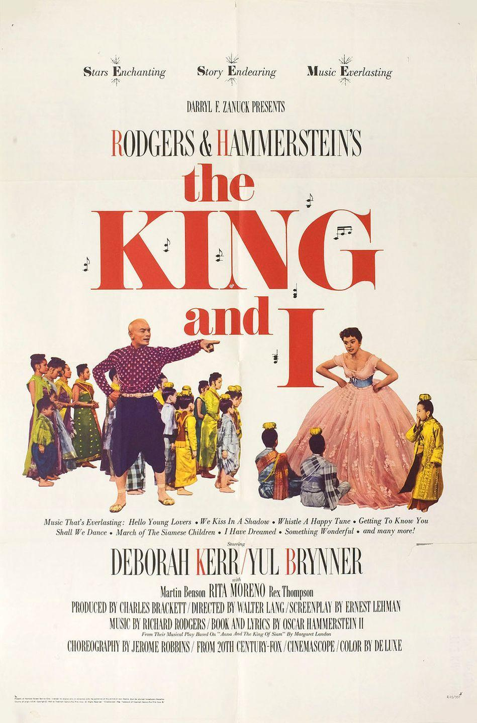 """<p>Rodgers & Hammerstein gave us gems like <em>The Sound of Music, Carousel</em>, and this story about a woman hired to be the governess (Deborah Kerr) and English tutor for the children of the King of Siam (Yul Brynner). Things get off to a rough start but you could probably imagine what happens next (if you haven't already seen it.) It's the musical you should queue up when you need a little romance in your life.</p><p><a class=""""link rapid-noclick-resp"""" href=""""https://www.amazon.com/King-I-Deborah-Kerr/dp/B00480H3UI/ref=sr_1_1?tag=syn-yahoo-20&ascsubtag=%5Bartid%7C10072.g.27734413%5Bsrc%7Cyahoo-us"""" rel=""""nofollow noopener"""" target=""""_blank"""" data-ylk=""""slk:WATCH NOW"""">WATCH NOW</a></p>"""