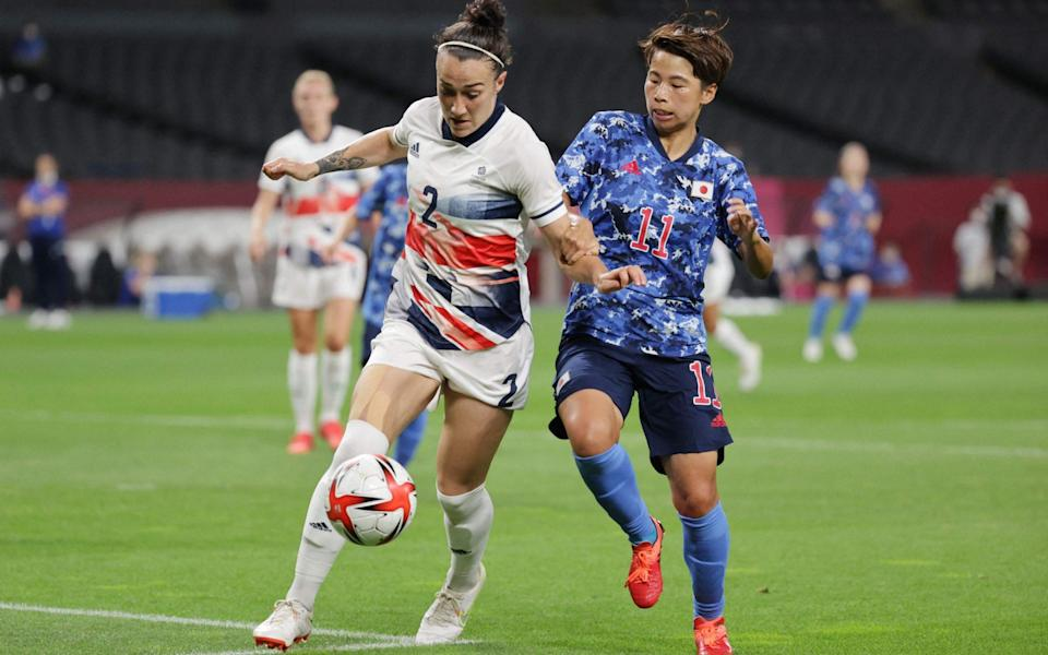 Lucy Bronze in action against Japan - AFP