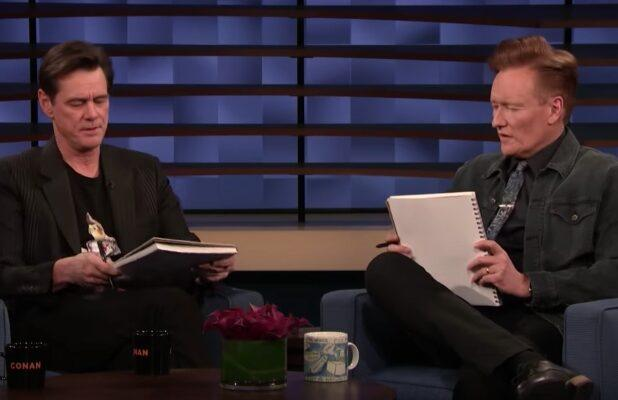 Jim Carrey and Conan Sketch Each Other Live on TV – Guess Which One Turns Out Better? (Video)