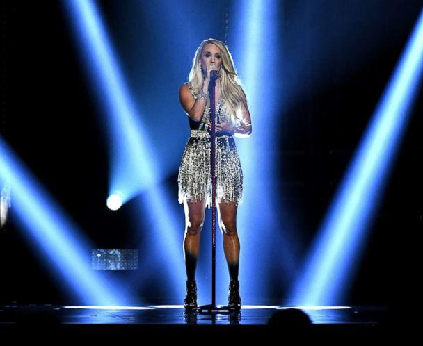 PHOTO: Carrie Underwood performs onstage during the 53rd Academy of Country Music Awards at MGM Grand Garden Arena, April 15, 2018, in Las Vegas. (Ethan Miller/Getty Images)