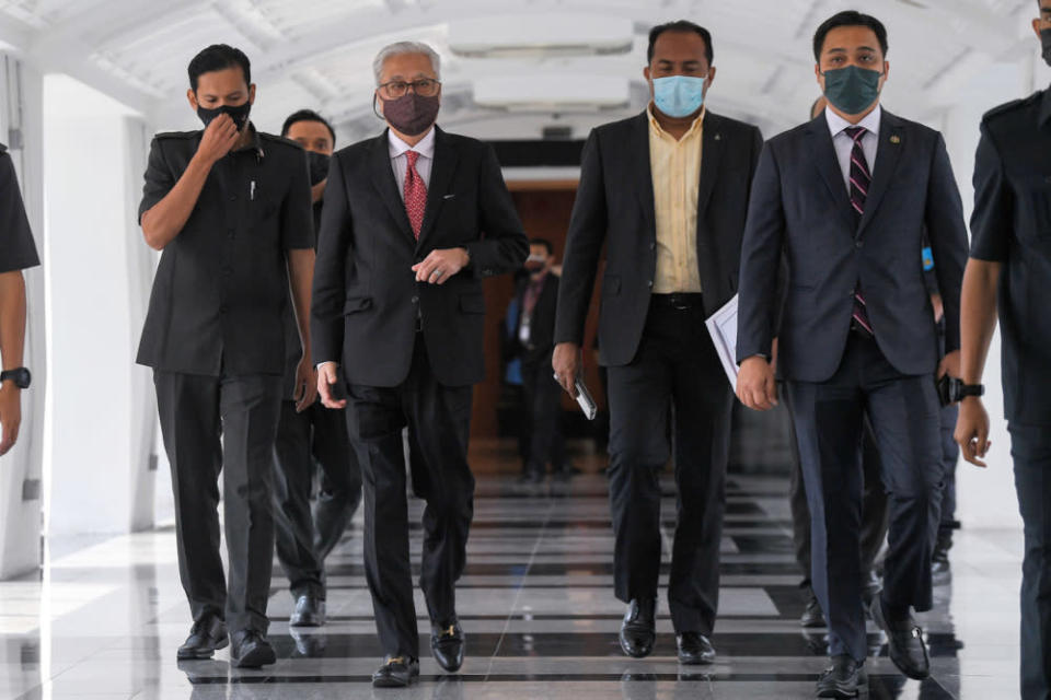 Prime Minister Datuk Seri Ismail Sabri Yaakob said RM14,500 has instead been spent on support programmes for frontliners, but did not specify neither their details nor expenditure breakdown. — Bernama pic