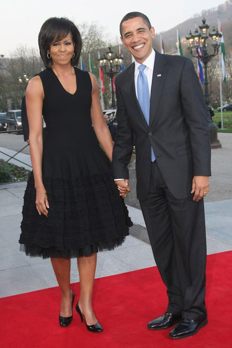 Photo credit: Michelle Obama wearing Azzedine Alaia. Getty Images