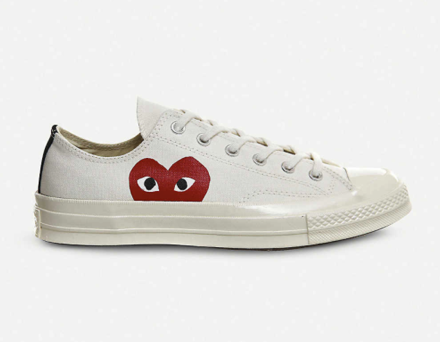 COMME DES GARCONS CPLAY x Converse 70s canvas low-top trainers