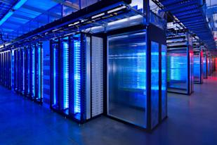 Facebook server room: Credit AP