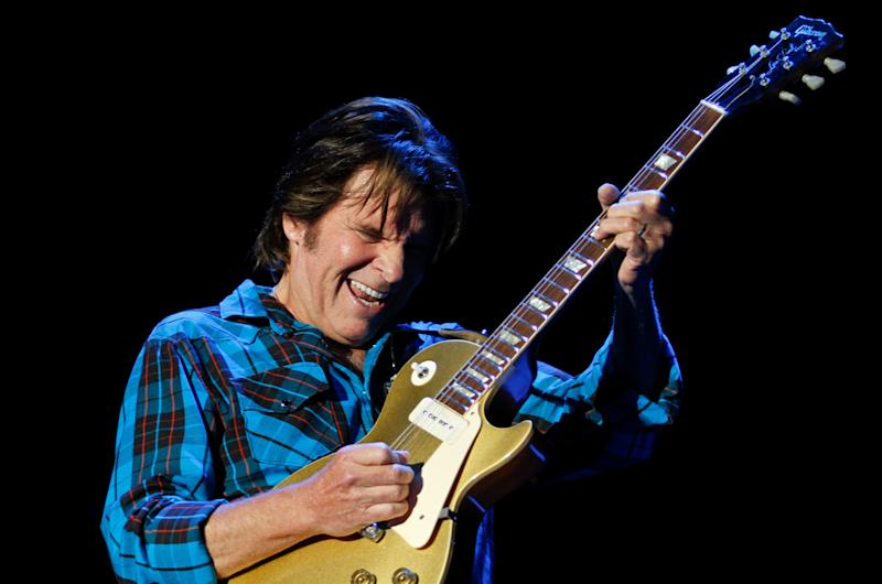 Rock singer John Fogerty performs during the Peace & Love festival in Borlange in the Midwest of Sweden Saturday July 3 2010.