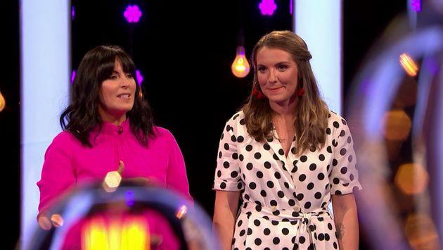 Millie on Naked Attraction with presenter Anna Richardson