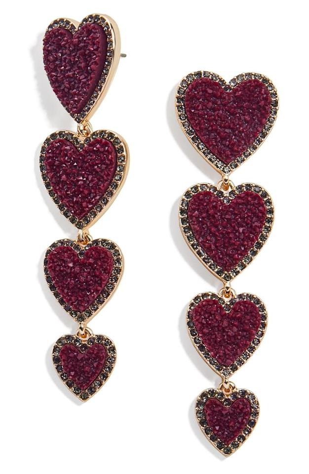 "<p>These <a href=""https://www.popsugar.com/buy/BaubleBar-Louis-Heart-Linear-Earrings-497711?p_name=BaubleBar%20Louis%20Heart%20Linear%20Earrings&retailer=shop.nordstrom.com&pid=497711&price=44&evar1=fab%3Aus&evar9=46284514&evar98=https%3A%2F%2Fwww.popsugar.com%2Ffashion%2Fphoto-gallery%2F46284514%2Fimage%2F46712756%2FBaubleBar-Louis-Heart-Linear-Earrings&list1=shopping%2Cnordstrom%2Csummer%20fashion%2Caffordable%20shopping&prop13=api&pdata=1"" rel=""nofollow"" data-shoppable-link=""1"" target=""_blank"" class=""ga-track"" data-ga-category=""Related"" data-ga-label=""https://shop.nordstrom.com/s/baublebar-louis-heart-linear-earrings/5397223?origin=category-personalizedsort&amp;breadcrumb=Home%2FWomen%2FAccessories&amp;color=greige"" data-ga-action=""In-Line Links"">BaubleBar Louis Heart Linear Earrings</a> ($44) are so pretty.</p>"
