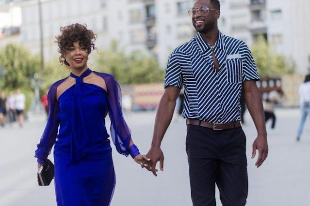 Gabrielle Union and Dwyane Wade keep showing off those #RelationshipGoals — this time doing some dance moves on their vacation in Europe. (Photo: Getty Images)