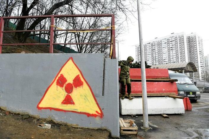A motorway is being built through the area of Moscow which activists say contains radioactive waste buried in the pre-Chernobyl Soviet era (AFP Photo/Kirill KUDRYAVTSEV)
