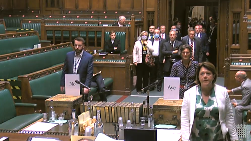 Total failure of social distancing during House of Commons vote, claims MP