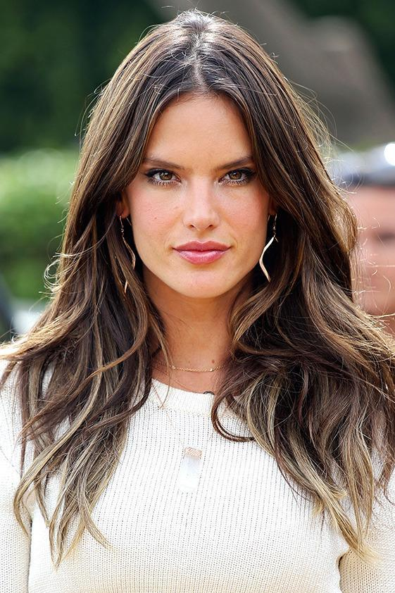 Victoria's Secret Angel Alessandra Ambrosio is famous for her long, luscious locks.