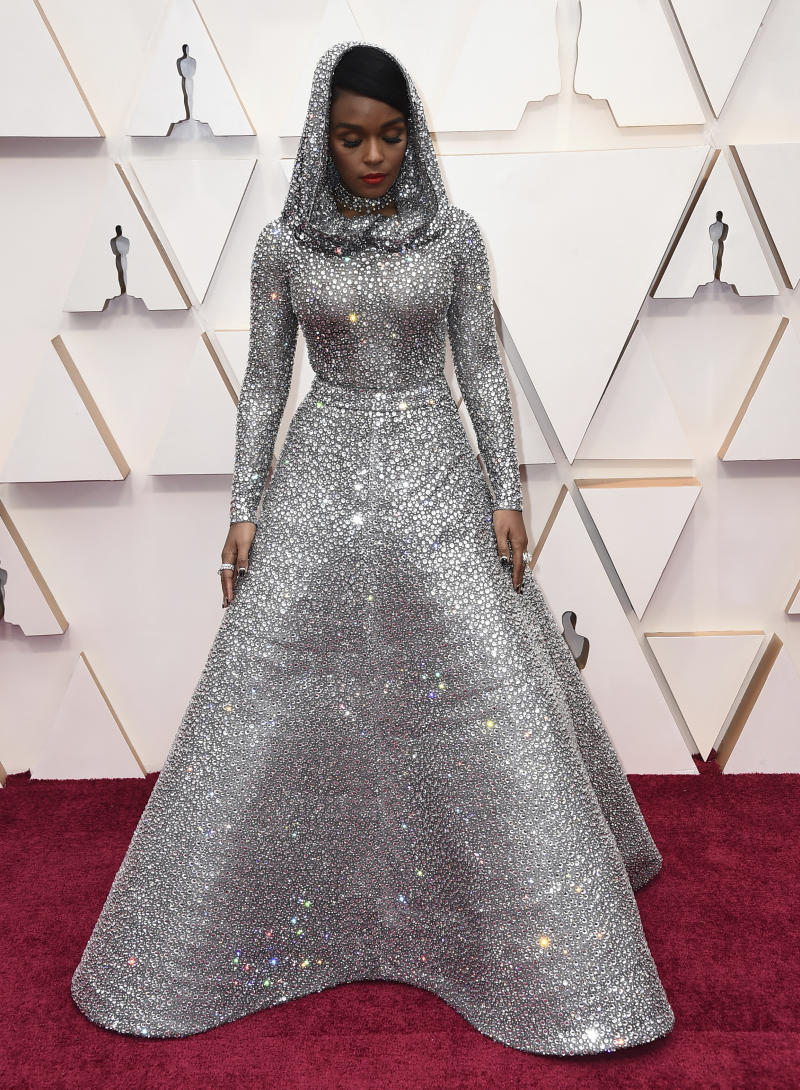 Janelle Monae arrives at the Oscars on Sunday, Feb. 9, 2020, at the Dolby Theatre in Los Angeles. (Photo by Jordan Strauss/Invision/AP)