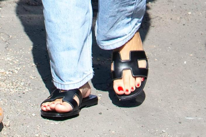 A closer look at Richie's sandals. - Credit: TheRealSPW / MEGA