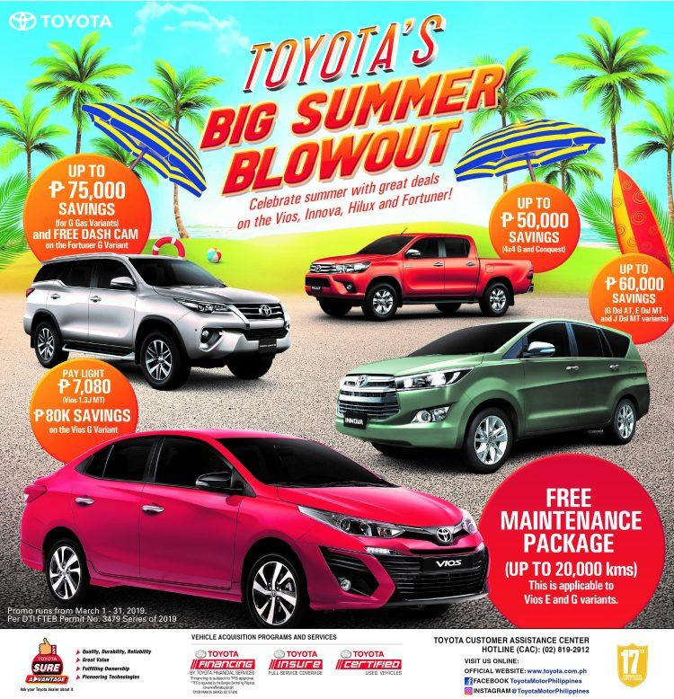 Beat The Blazing Heat With Toyota S Summer Blowout Promo