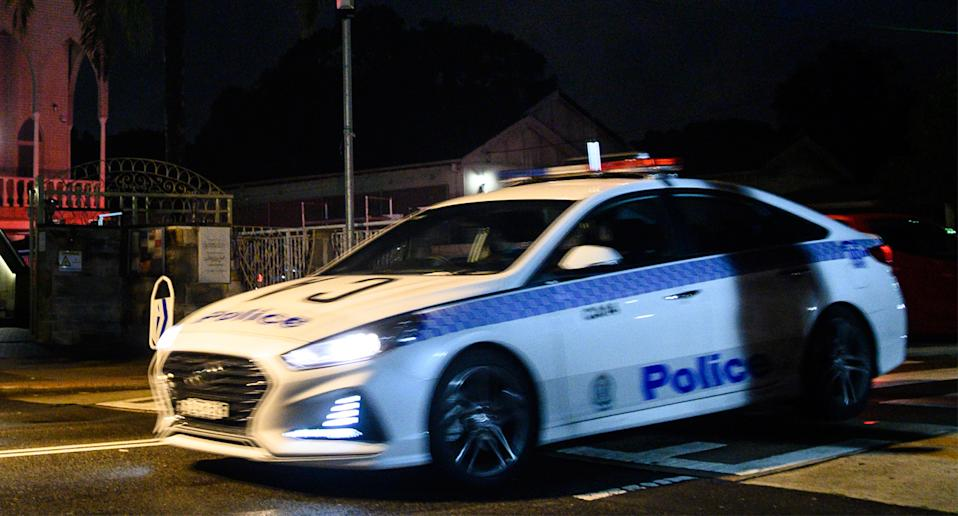 A NSW Police car is pictured.