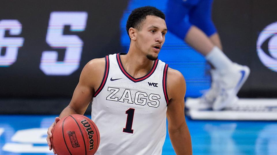 Gonzaga guard Jalen Suggs has shot up the NBA Draft board to No. 2 in the latest mock draft.