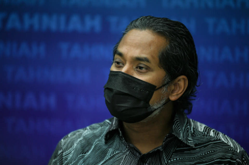 In a tweet, the National Covid-19 Immunisation Programme coordinating minister said that MoH had identified him as a close contact of a Covid-19 patient. — Bernama pic