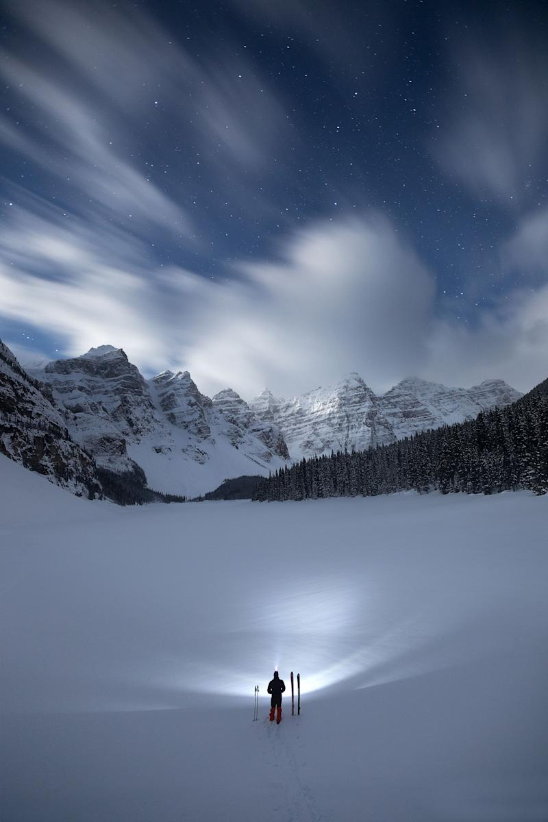Night time at Moraine Lake. (Photo: Paul Zizka/Caters News)