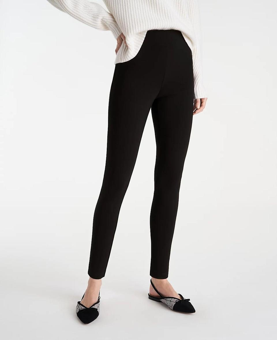 <p>You can totally wear these <span>Ann Taylor Seamed Leggings</span> ($40 - $50) to work. Just style them with an elegant sweater and some refined flats.</p>