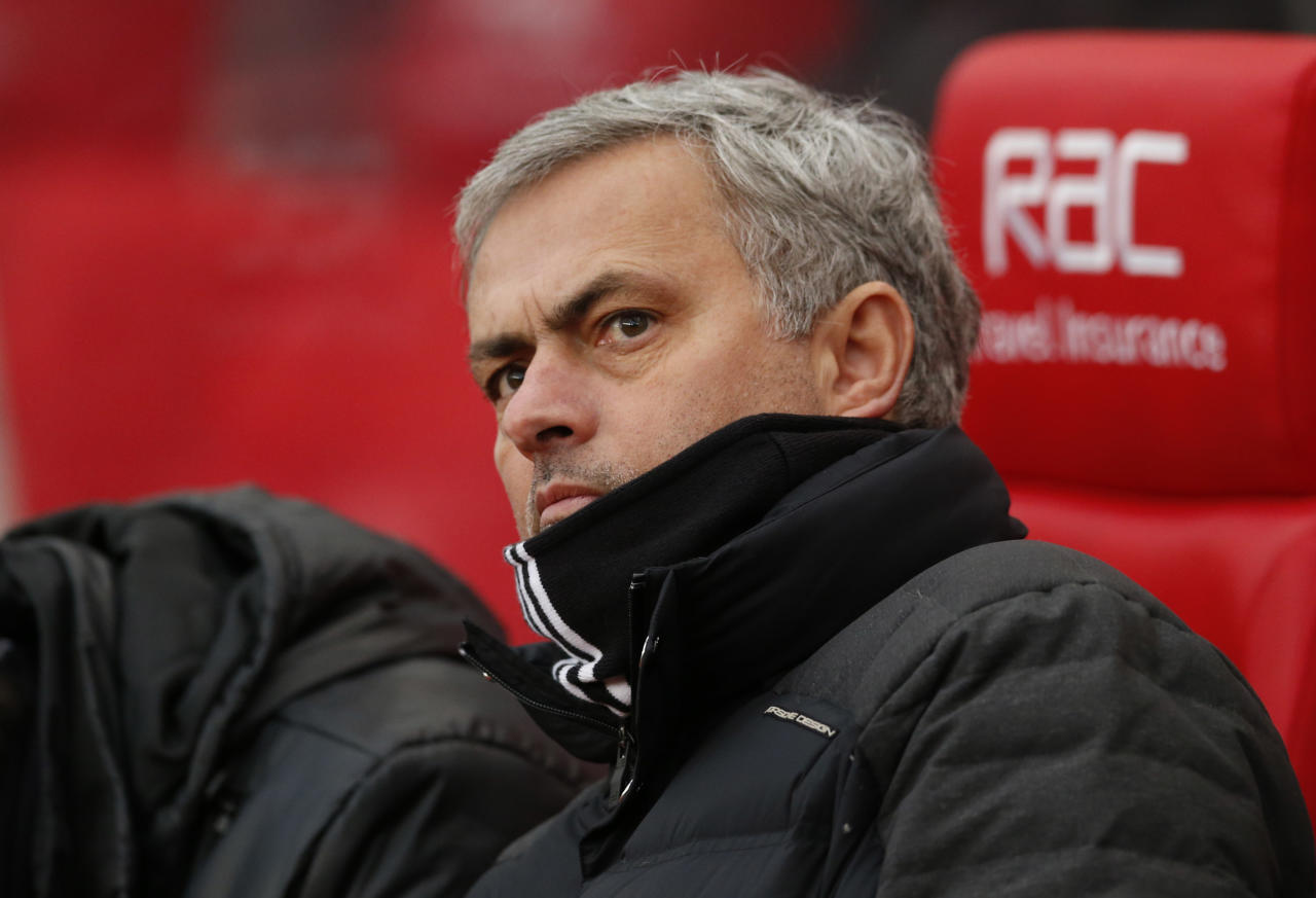 """Britain Soccer Football - Stoke City v Manchester United - Premier League - bet365 Stadium - 21/1/17 Manchester United manager Jose Mourinho  Action Images via Reuters / Andrew Boyers Livepic EDITORIAL USE ONLY. No use with unauthorized audio, video, data, fixture lists, club/league logos or """"live"""" services. Online in-match use limited to 45 images, no video emulation. No use in betting, games or single club/league/player publications.  Please contact your account representative for further details."""