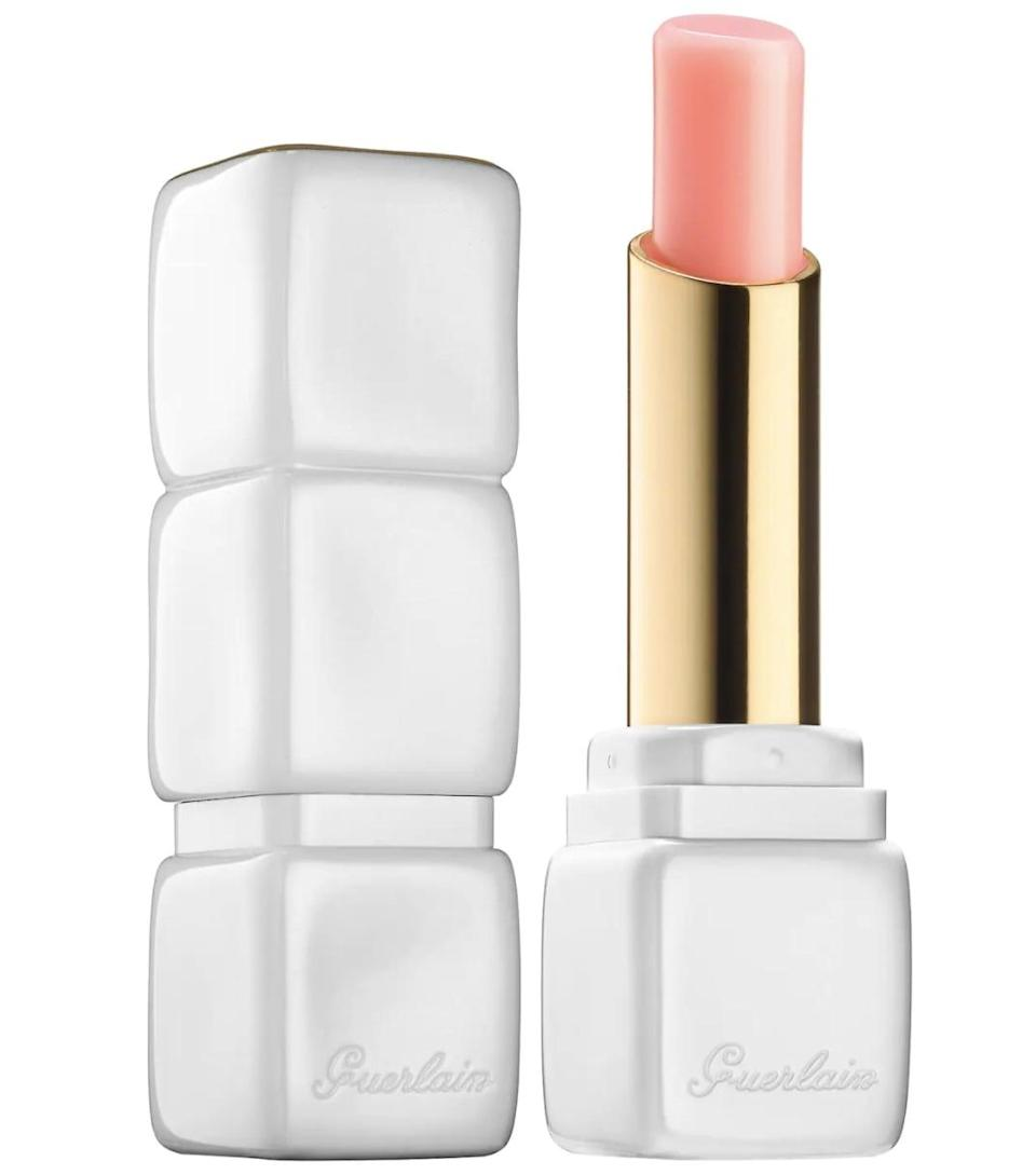 """<p>""""<span>Guerlain's Roselip Hydrating &amp; Plumping Tinted Lip Balm</span> ($39) might be the fanciest lip balm of all time. The packaging is stunning, the light rose scent is lovely, and it's color adjusting so it stains your lips with an ultraflattering shade of pink. I've even used it on my cheeks in a pinch. But this wonder product will cost you."""" - Joanna Douglas, editorial director, Native </p>"""