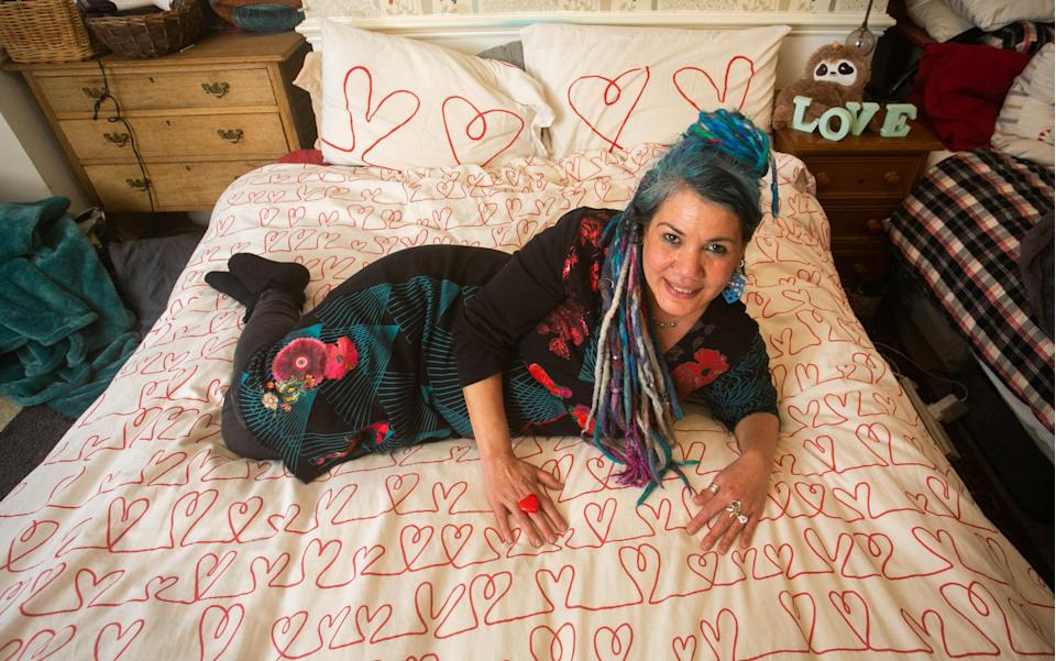 """Pascale describes her and her duvet as having the """"most intimate and reliable relationship"""" she's ever experienced. [Photo: SWNS]"""