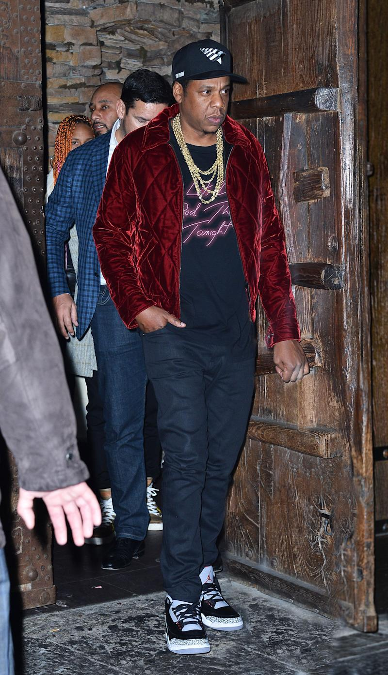 "Jay-Z at the ""SNL"" Season 43 after-party at Tao in New York City."