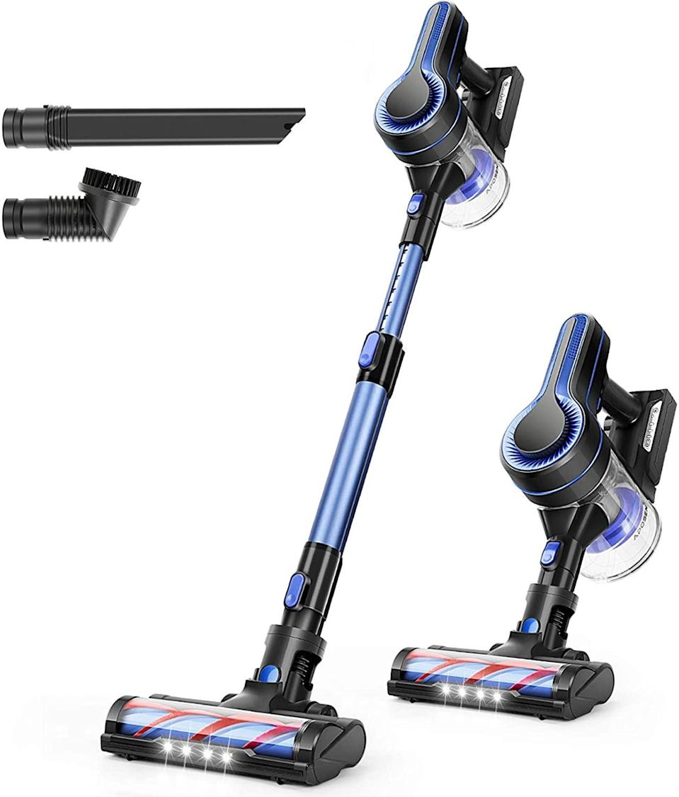 """<br><br><strong>APOSEN</strong> 24KPa Powerful Suction Cordless Vacuum Cleaner, $, available at <a href=""""https://amzn.to/2Ik516k"""" rel=""""nofollow noopener"""" target=""""_blank"""" data-ylk=""""slk:Amazon"""" class=""""link rapid-noclick-resp"""">Amazon</a>"""