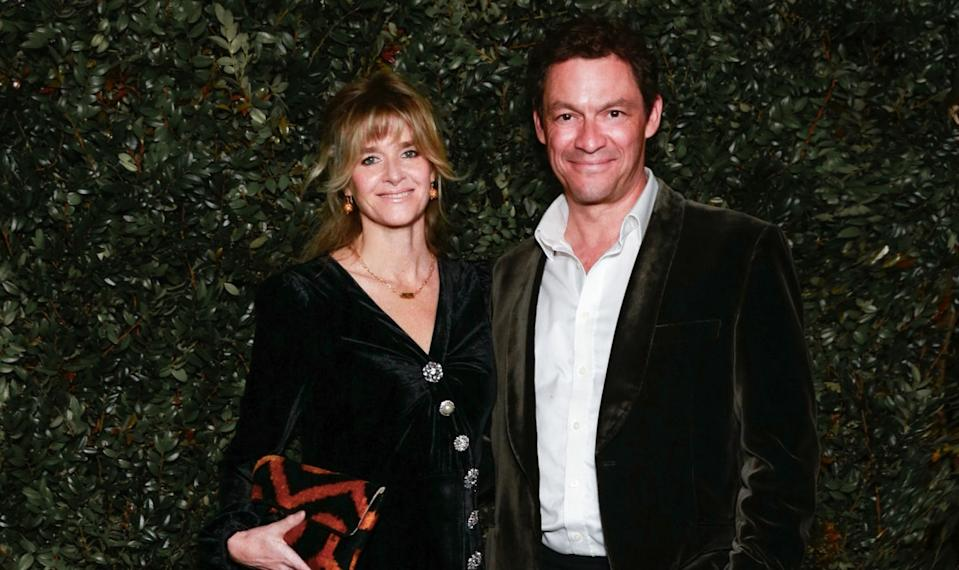 Catherine FitzGerald y Dominic West. (Foto: Rochelle Brodin / Patrick McMullan / Getty Images)