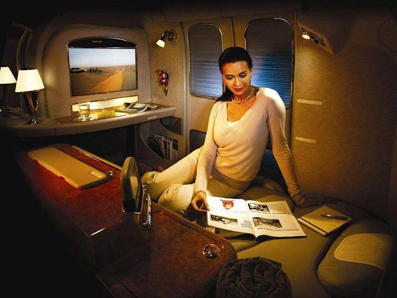 Emirates refreshed its first class seat in December (Emirates)