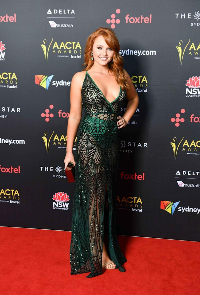 Brooke Nichole Lee looked stunning as she followed the 'naked dress' trend of the moment. Source: Media Mode