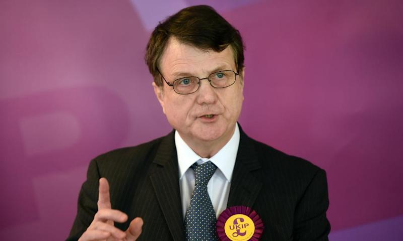 Ukip leader Gerard Batten, who took over the party unopposed in April.