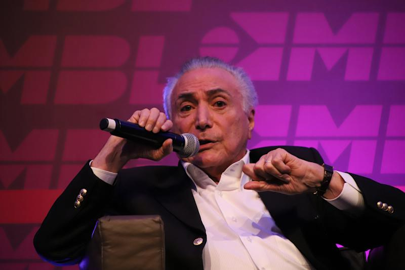 Michel Temer, ex-presidente, durante o Congresso Nacional do Movimento Brasil Livre. (Foto: Charles Sholl/Brazil Photo Press/Folhapress)