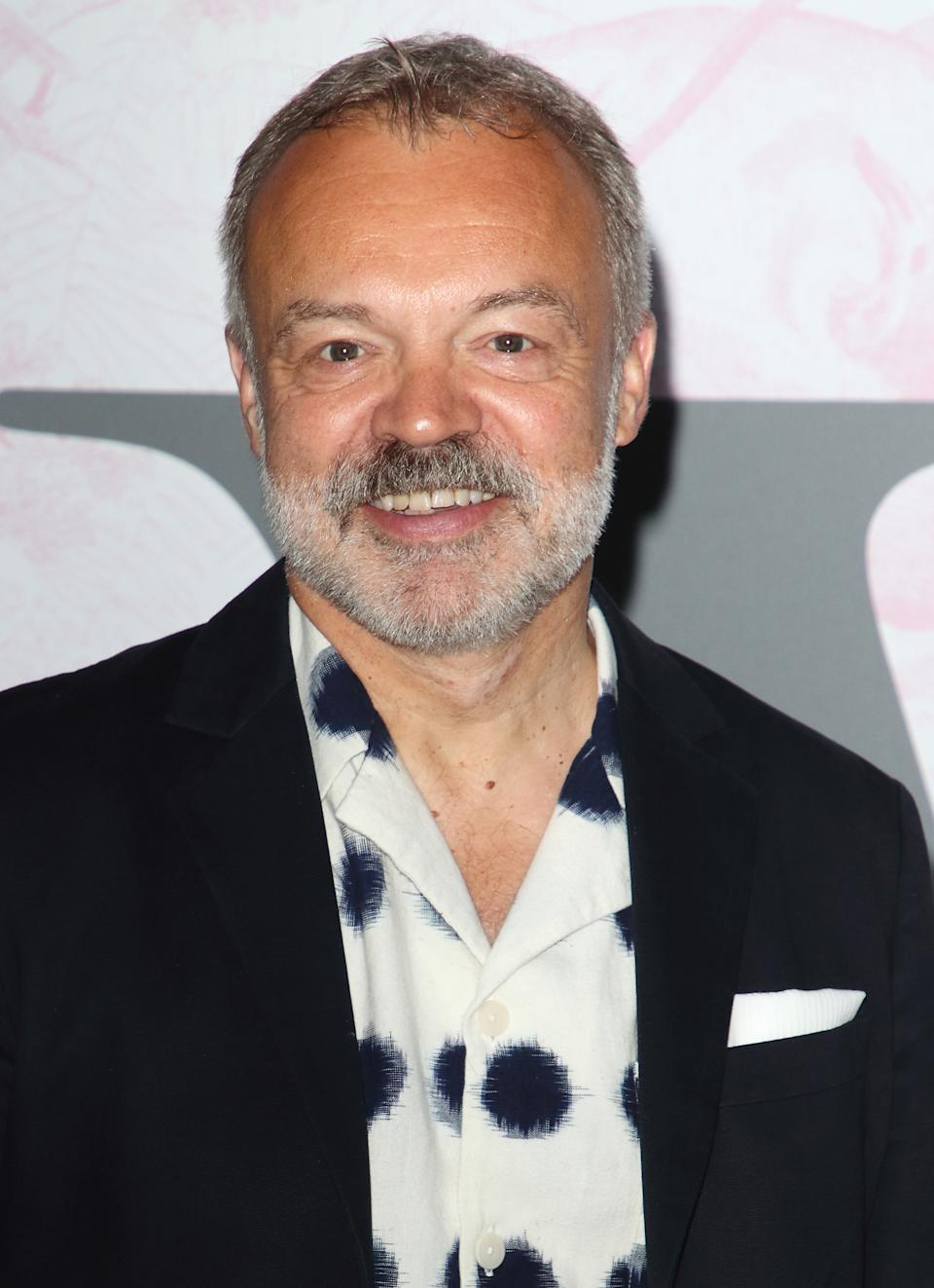 LONDON, UNITED KINGDOM - 2019/06/19: Graham Norton at The Victoria and Albert Museum Summer Party - in partnership with Dior - at the John Madejski Garden, Victoria and Albert Museum, Kensington. (Photo by Keith Mayhew/SOPA Images/LightRocket via Getty Images)