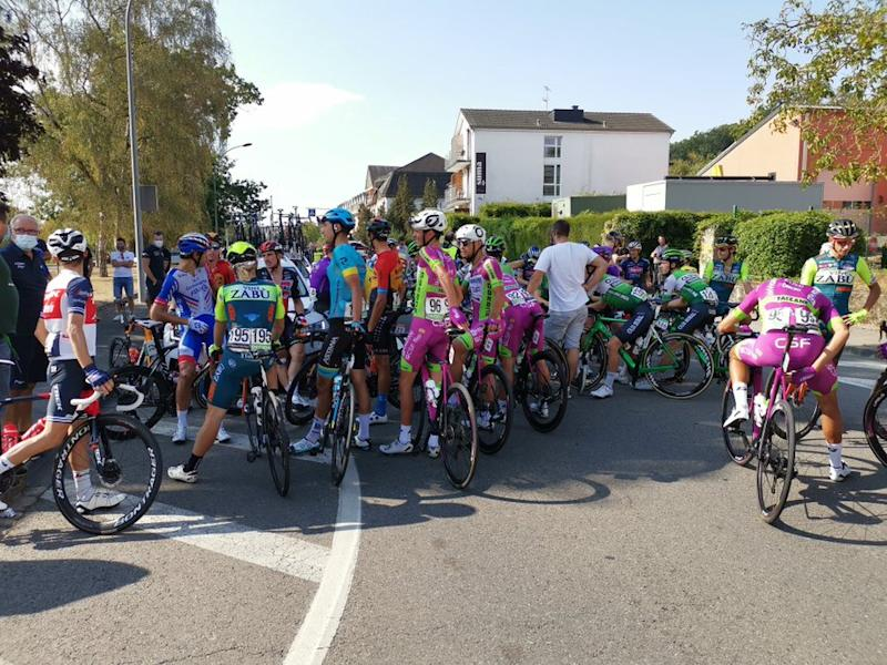 The riders at the Skoda-Tour de Luxembourg talk about road safety after neutralising stage 2