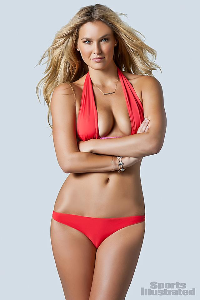 "Israeli model Bar Refaeli has a fun feature in the mag called ""Bar and the Boys,"" where she poses with three different Summer Olympians including swimmer Michael Phelps, tennis superstar Rafael Nadal, and NBA player Chris Paul. Can you believe Leonardo DiCaprio let this girl get away? See More of Bar Refaeli at SI Swimsuit 2012"