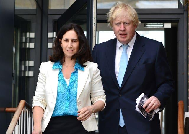 Boris Johnson pictured with his second wife Marina Wheeler