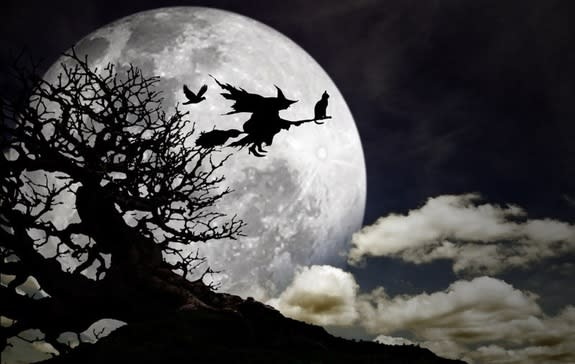 Witches are often shown riding broomsticks. How they came to be associated with the household objects is a murky tale.